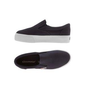 Superga EUC Slip On Sneakers Size 7.5 Black